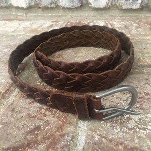 American Eagle Women's Braided Leather Belt